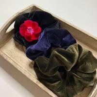 Haargummi Samt Haarband Zopfband Samt Scrunchie Gummiband Damen Top, Geschenkidee Bild 1