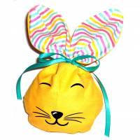 Bunny Bag Gr. S, Gelb mit Wunschname - Beutel für Ostergeschenke - Geschenkverpackung - Geschenkbeutel - Ostern Bild 1