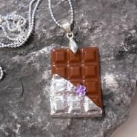 Tafel Schokolade Halskette  925 er Kugelkette kawaii sweet  Bild 2