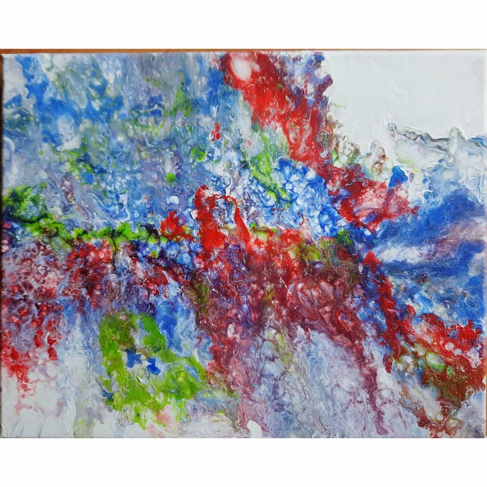 Farbenfrohes Acrylbld in fluid paint Technik Bild 1