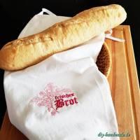 Baguette- und Brötchenbeutel, Stoffbeutel aus Baumwolle für Brot und Brötchen, 23 x 52  cm,  Bild 1