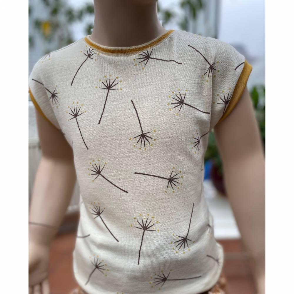 ️ Frühlingshaftes T-Shirt Wolle-Seide (kbT) ️ beidseitig tragbar ️ Pusteblumen Bild 1