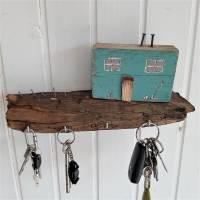 Schlüsselbrett mit Strandhäuschen aus Altholz (3) Bild 1