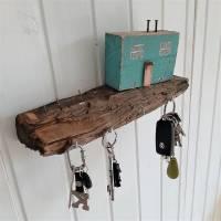 Schlüsselbrett mit Strandhäuschen aus Altholz (3) Bild 5