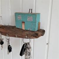 Schlüsselbrett mit Strandhäuschen aus Altholz (3) Bild 7