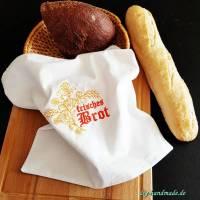 nostalgischer Brotbeutel, Stoffbeutel aus Baumwolle für Brot und Brötchen, 38 x 36  cm, Unikat Bild 1