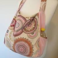 Handtasche / Schultertasche Mandala beige-multicolor-rosa Bild 10