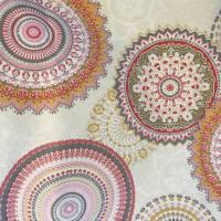 Handtasche / Schultertasche Mandala beige-multicolor-rosa Bild 5