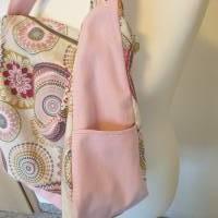 Handtasche / Schultertasche Mandala beige-multicolor-rosa Bild 6