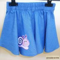 Jeans - Tellerrock für Kinder SCHNECKE Bild 3