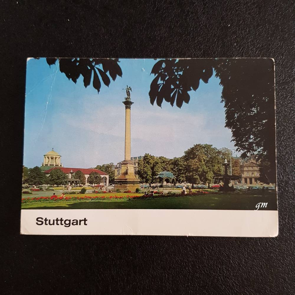 vintage, Postkarte, Ansichtskarte, Stuttgart, Schlossplatz,  Bild 1
