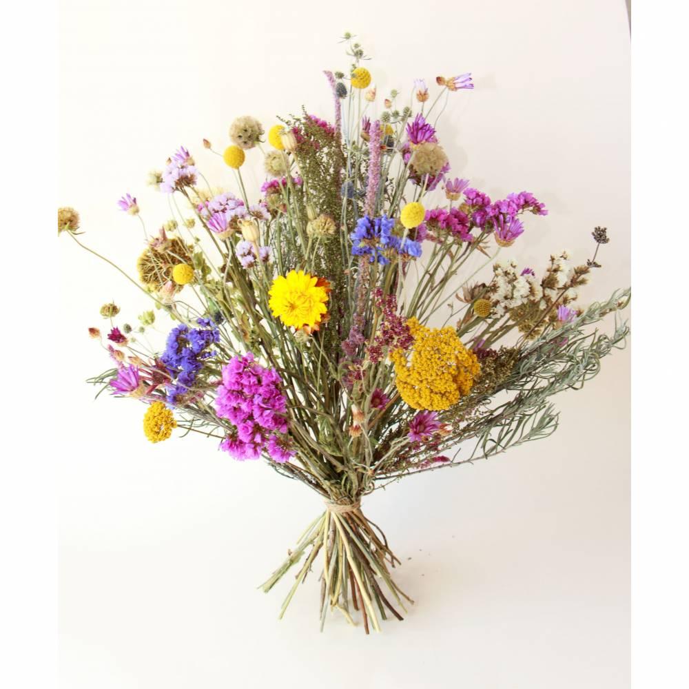 BIO Trockenblumenstrauß *Locker gebunden* NACHHALTIG UMWELTSCHONEND ca. 50cm hoch *organic dried flowers bouquet (Demete Bild 1