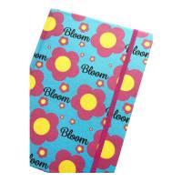 """Notizbuch Tagebuch """"Bloom/Blue"""" A5 Hardcover stoffbezogen Stoff Blumen Retro Retrofan Geschenk Geschenk Bild 1"""