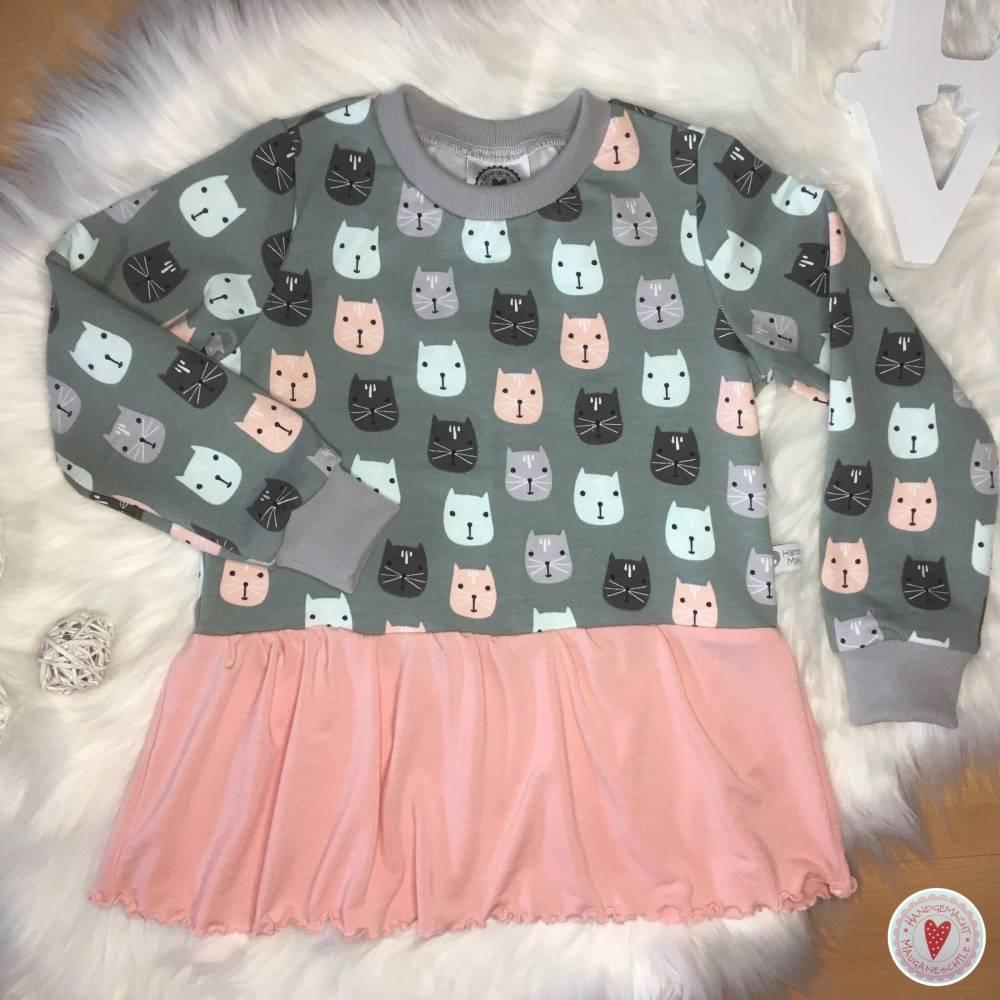 Sweater mit Volant * Gr. 104 * Katzen Bild 1