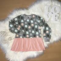 Sweater mit Volant * Gr. 104 * Katzen Bild 2