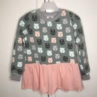 Sweater mit Volant * Gr. 104 * Katzen Bild 3