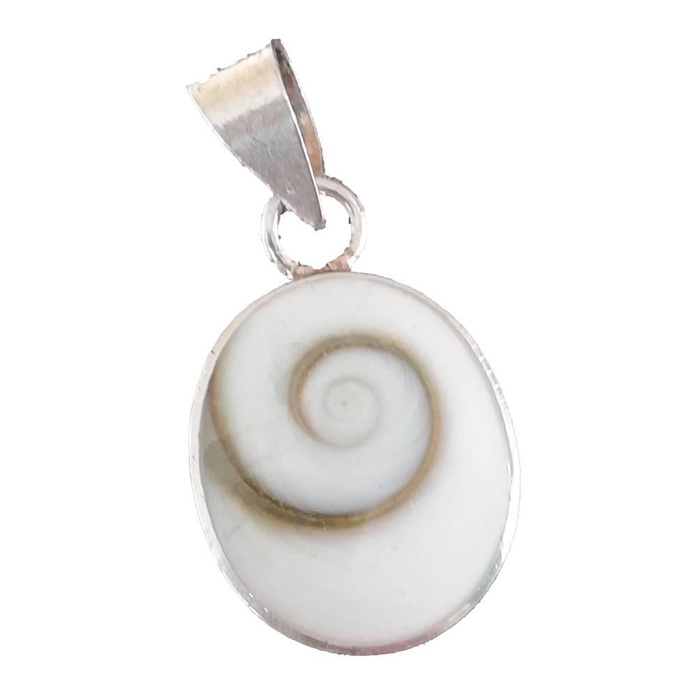 Silber Anhänger - Shiva Eye Operculum - Shiva Auge Bild 1