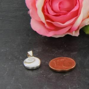 Silber Anhänger - Shiva Eye Operculum - Shiva Auge Bild 9