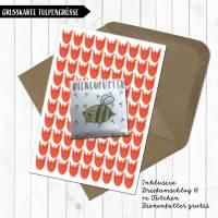 Grusskarte Blumige Grüße - gratis Bienenfutter Bild 1