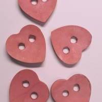 Naturknopf!   Supersüsser Herz-Knopf aus gefärbtem Kokos, ca 4cm groß Bild 2