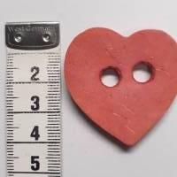Naturknopf!   Supersüsser Herz-Knopf aus gefärbtem Kokos, ca 4cm groß Bild 3