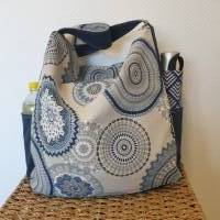 Handtasche / Schultertasche Mandala beige-multicolor-jeansblau Bild 10