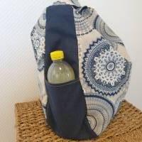 Handtasche / Schultertasche Mandala beige-multicolor-jeansblau Bild 4