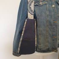 Handtasche / Schultertasche Mandala beige-multicolor-jeansblau Bild 5