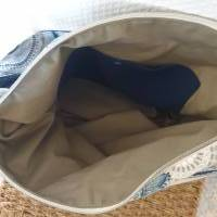 Handtasche / Schultertasche Mandala beige-multicolor-jeansblau Bild 6
