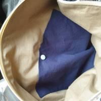 Handtasche / Schultertasche Mandala beige-multicolor-jeansblau Bild 7