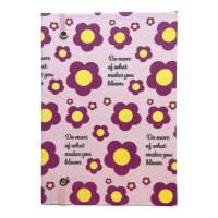 """Notizbuch Tagebuch """"What makes you bloom"""" A5 Hardcover stoffbezogen Stoff Blumen Retro Retrofan Geschenk  Bild 3"""