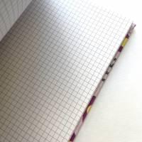 """Notizbuch Tagebuch """"What makes you bloom"""" A5 Hardcover stoffbezogen Stoff Blumen Retro Retrofan Geschenk  Bild 6"""