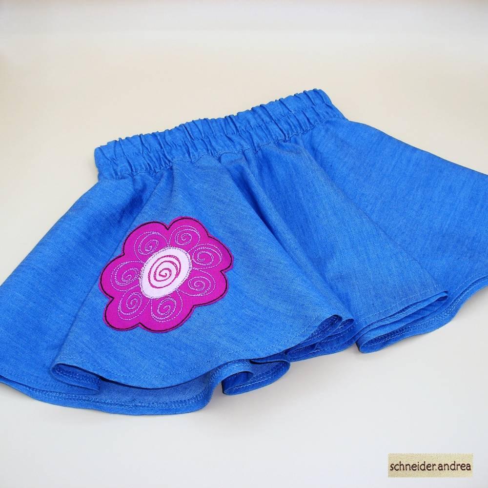 Jeans - Tellerrock für Kinder BLÜTE Bild 1