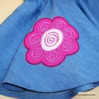 Jeans - Tellerrock für Kinder BLÜTE Bild 2