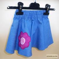 Jeans - Tellerrock für Kinder BLÜTE Bild 3