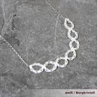 funkelnde Kette Adria viele Edelsteine Seide Verschluss Silber / vergoldet Bild 5
