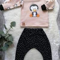 Gr. 68 Baby Set Pullover / Shirt / * Pinguin mit Pumphose – Jungs und Mädchen Bild 1