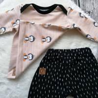Gr. 68 Baby Set Pullover / Shirt / * Pinguin mit Pumphose – Jungs und Mädchen Bild 2