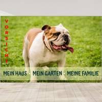 Hunde Warnschild mein Haus mein Garten Englisch Bulldogge Bild 1