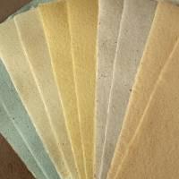 10 Blatt handgeschöpftes Papier, ca. 21 cm x 29,5 cm, Büttenpapier, Bastelpapier, Kaschierpapier Bild 2