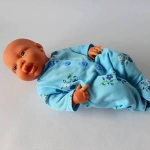 Strampler aus weichem Sommersweat für Baby-Puppen 40-43 cm Bild 1