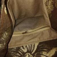 Beuteltasche, Schultertasche, braun gold Bild 5