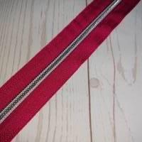 1m Endlosreissverschluss 5mm pink / silber Bild 1