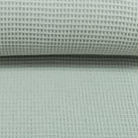 Stoffpaket Baumwolle Regenbogen bunt + Waffelpique mint Bild 4