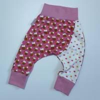 """Babyhose Gr.74 Mädchen Pumphose Knopfknirps Gr.74 handmade """"Kleine Bienchen"""" Mädchenhose  Bild 1"""