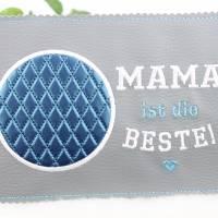 """MugRug """"MAMA ist die BESTE!"""" / Tassenteppich / Untersetzer Bild 1"""