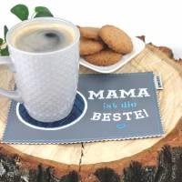"""MugRug """"MAMA ist die BESTE!"""" / Tassenteppich / Untersetzer Bild 2"""