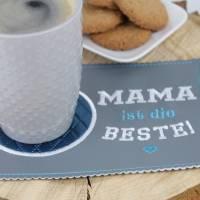 """MugRug """"MAMA ist die BESTE!"""" / Tassenteppich / Untersetzer Bild 3"""