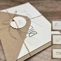 Kartenset - Für liebe Menschen - Karten mit Briefumschlag Bild 1