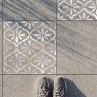 Schablone für Betonplatten - Terassenplatten Schablone - Fliesen Schablone Bild 1